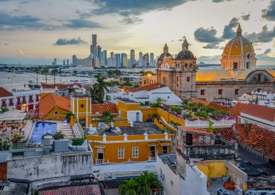 Sunset in Cartagena, Colombia